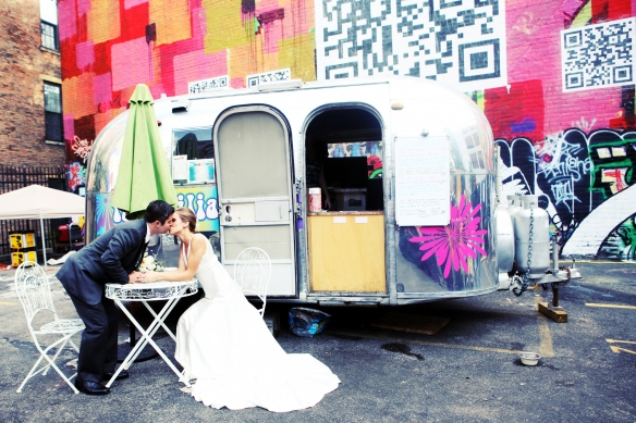 wedding photos with graffiti art