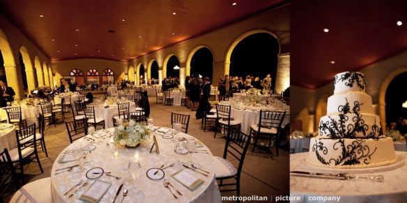 World's Fair Pavilion wedding reception