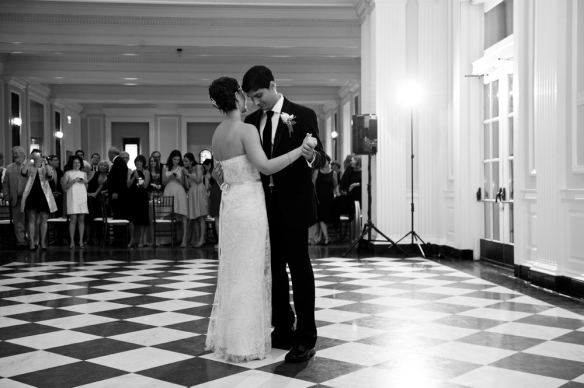 Sami and Mike's first dance