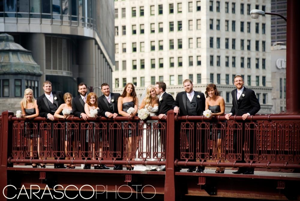 Megan and Adam on Chicago Bridge