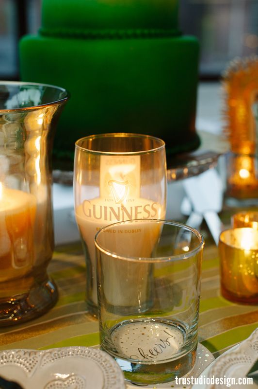 guinness candle for Irish dinner party