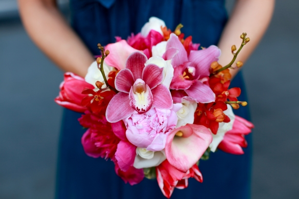 Spring Bridesmaid bouquet, Murphy wedding