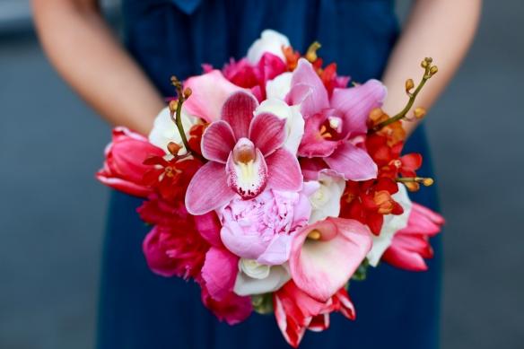 Spring Bridesmaid bouquet, Murphy wedding