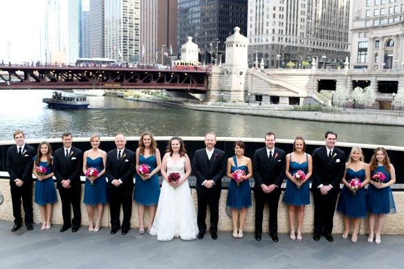 Chicago Riverwalk wedding photos, Murphy Wedding