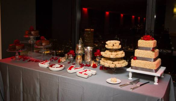 Chicago wedding sweets table cake