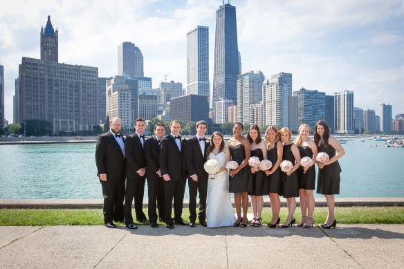 Chicago skyline Chicago wedding soiree wedding