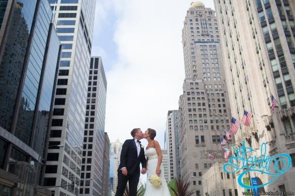 Michigan Avenue Wedding photos