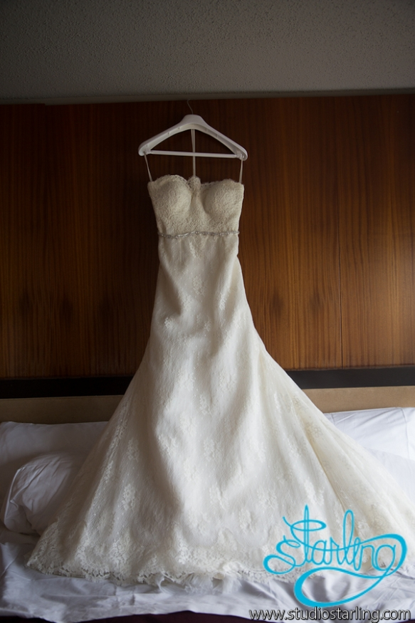 Lisa wedding gown W Hotel