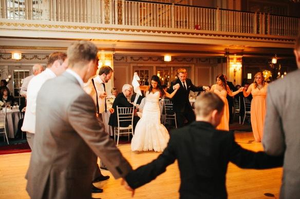 Greek dancing wedding
