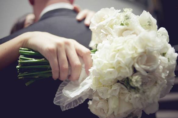 Chicago white bridal bouquet