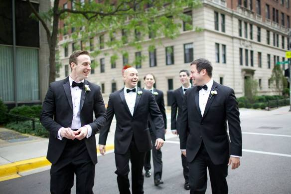 Groom and Groomsmen Chicago Wedding