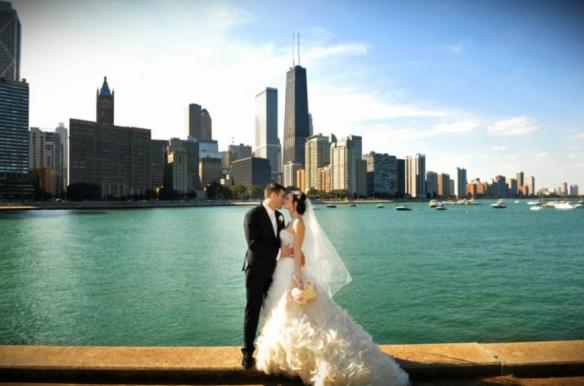 Bride and Groom Olive Park Wedding Photos