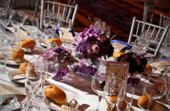 Yanni Design Studio purple wedding