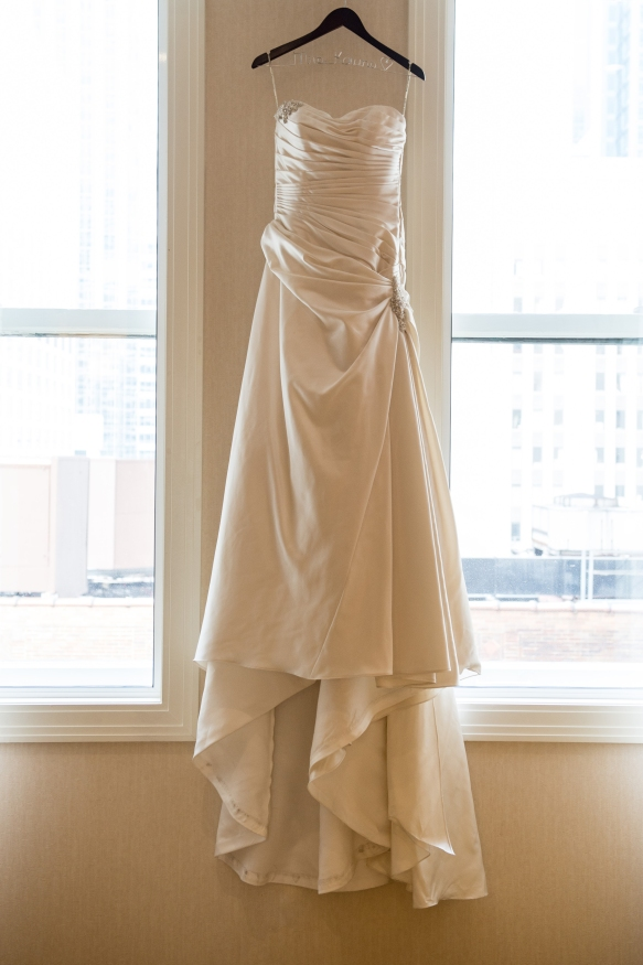 Bridal gown at the JW Marriott