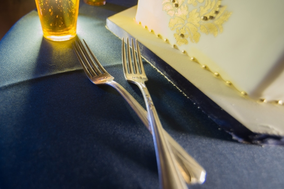 Mr and Mrs wedding forks