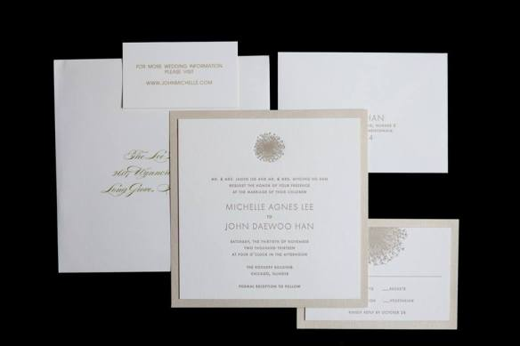 Rookery wedding invitation suite