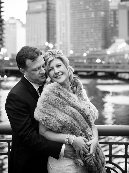 Chicago River Bridge Wedding Photos