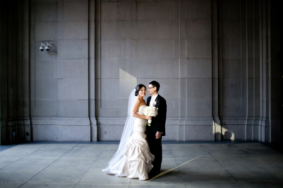November chicago wedding photos