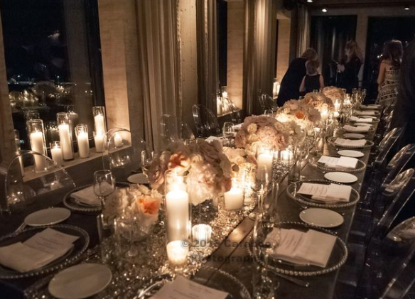 glam farm table chicago wedding